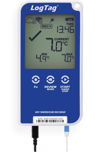 UTRED30-WiFi - WLAN-Temperatur-Datenlogger mit PDF-Report & akustischem Alarm