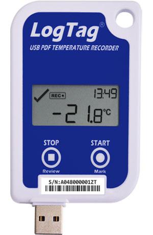 UTRED-16 Temperatur-Datenlogger mit PDF-Report & Display