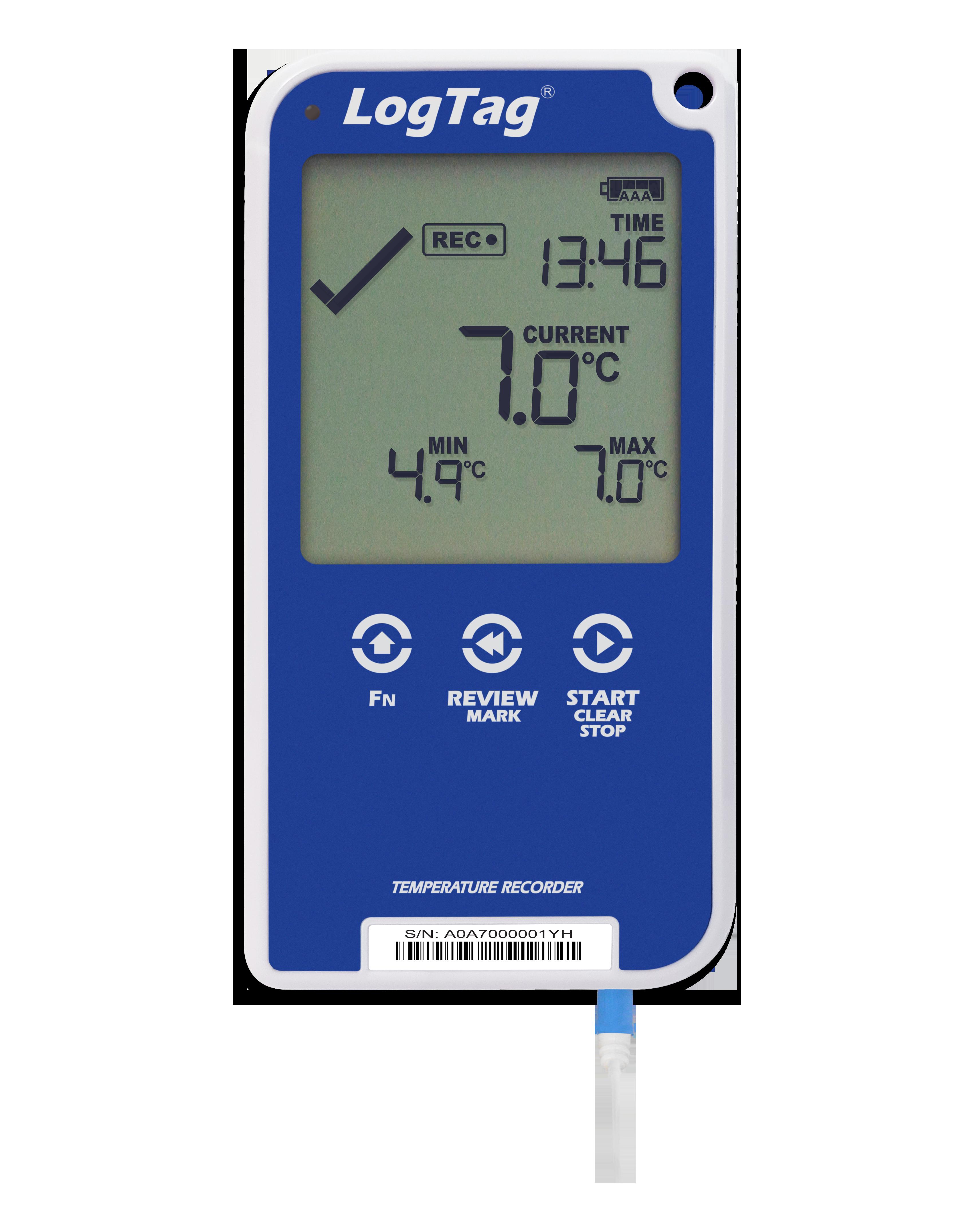 LogTag® UTRED30-16 Temperatur-Datenlogger mit PDF-Report & akustischem Alarm