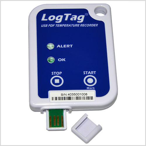 LogTag® USRIC-8 Einweg-Temperatur-Datenlogger mit PDF-Report
