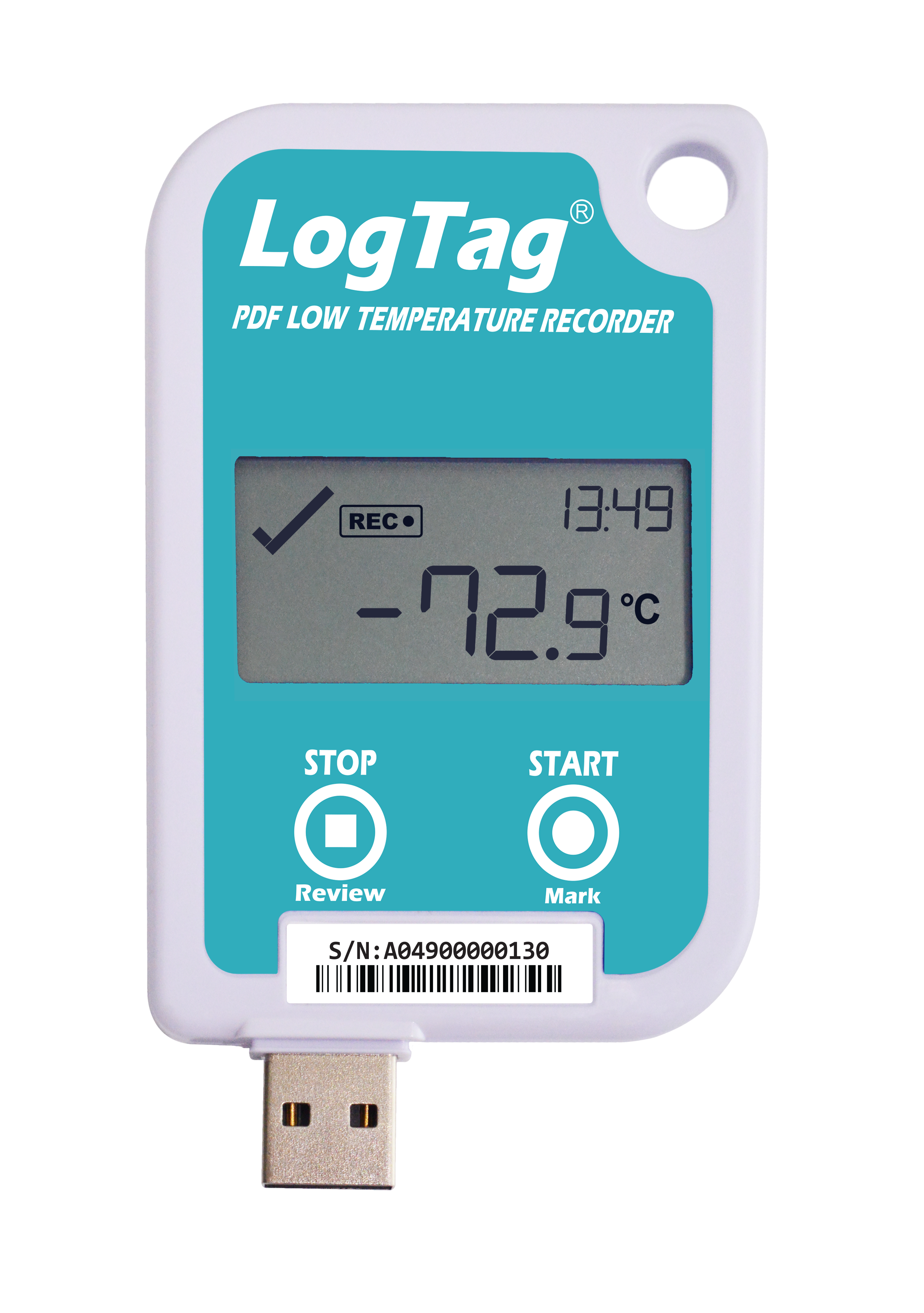 LogTag® UTREL-16F Ultra-Tieftemperatur-Datenlogger mit PDF Report & Display