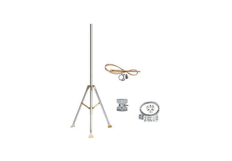 Komplettes Set für einen 3-Meter Dreibeinmast für HOBO Wetterstationen