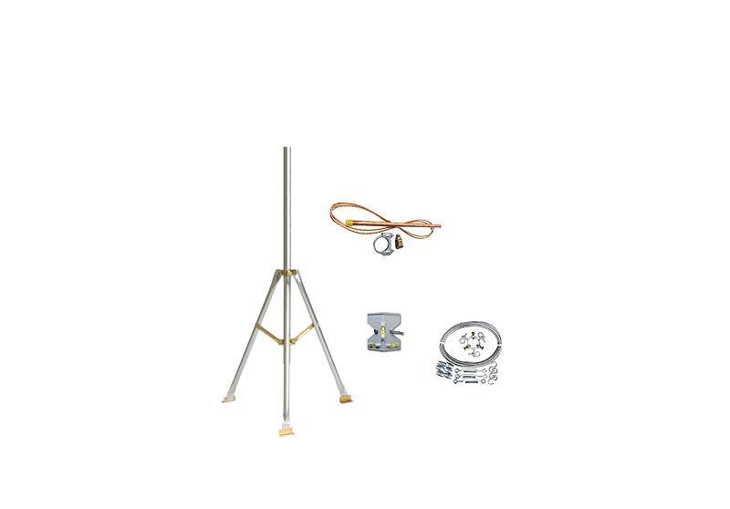 Komplettes Set für einen 2-Meter Dreibeinmast für HOBO Wetterstationen