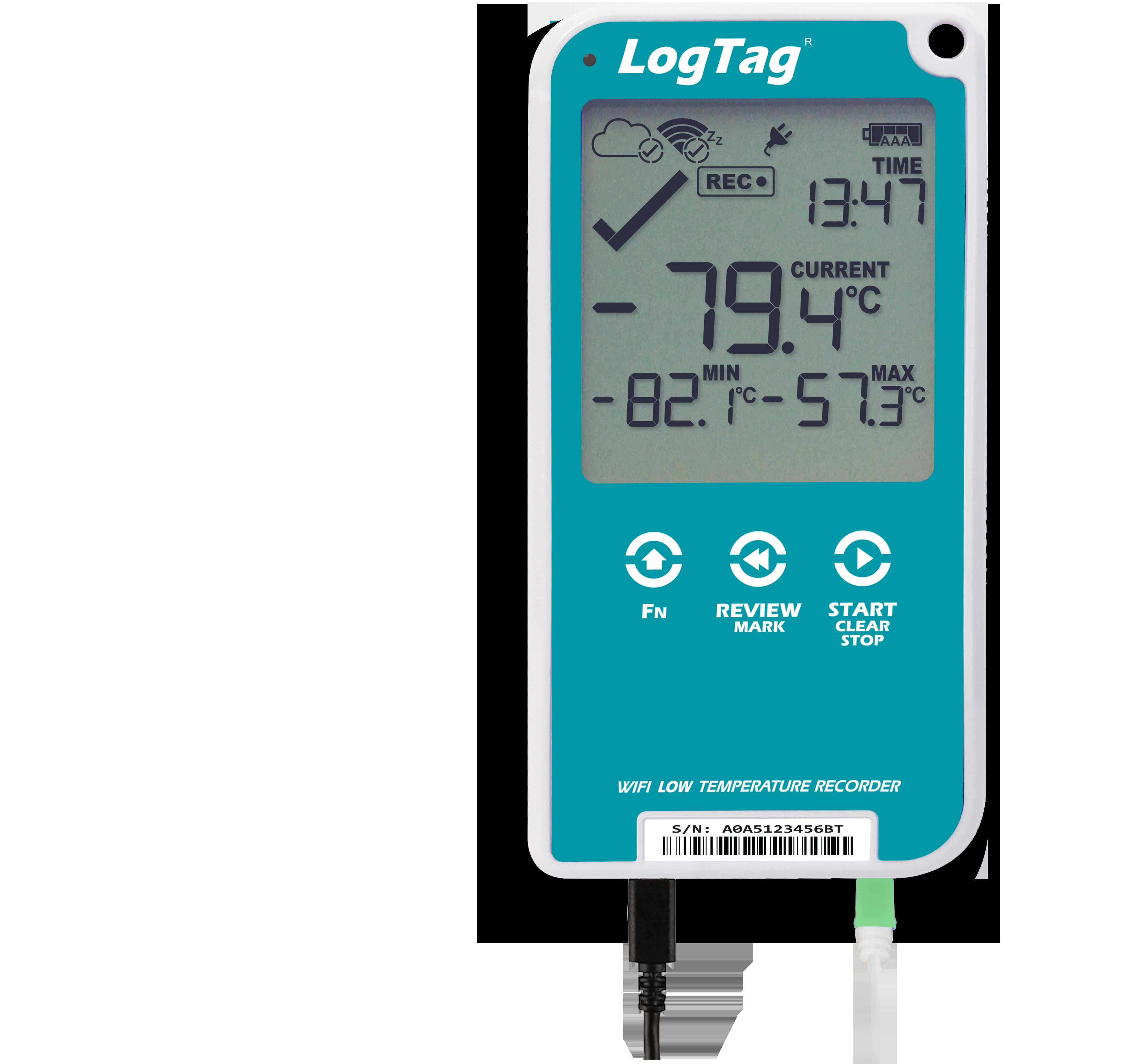 LogTag® UTREL30-WiFi Ultra-Tieftemperatur-WLAN-Datenlogger mit PDF Report